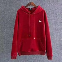 Jordan Woman Men Fashion Velvet Hoodie Top Sweater Pullover