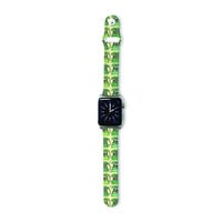 """Holly Helgeson """"Vintage Telephone"""" Green Pattern Apple Watch Strap"""