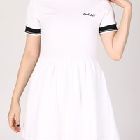 Pre Order - Crybaby Polo Dress in White