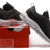 """""""Nike Air Max 97"""" Unisex Sport Casual Fashion Snake Pattern Stitching Air Cushion Running Shoes Couple Sneakers"""