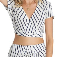 Billabong That's a Wrap Woven Crop Top | Nordstrom