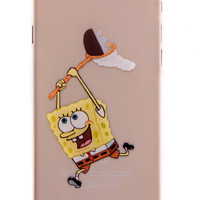 Spongebob Transparent Back Cover Case for iPhone 6 Plus
