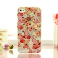 Fancy Colored Handcraft Butterfly Case for iPhone 4 / 4S