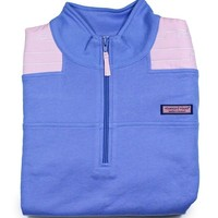 Vineyard Vines Womens Whale Quilted Breaker Blue Pullover Shep Shirt