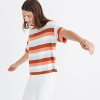 Boxy Sweater Tee in Maggie Stripe : shopmadewell sleeveless & short sleeve | Madewell