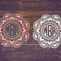 Mandala Decal, Yeti Decal, Mandala Monogram, Monogram Decal, Monograms, Monogrammed Yeti Tumbler, Decals, Decal, Car Decal, Vinyl Decal