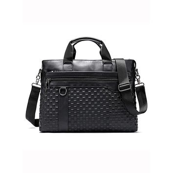 Trendy Good Leather Brief Cases For Mens Fashion Office Briefcase Bags