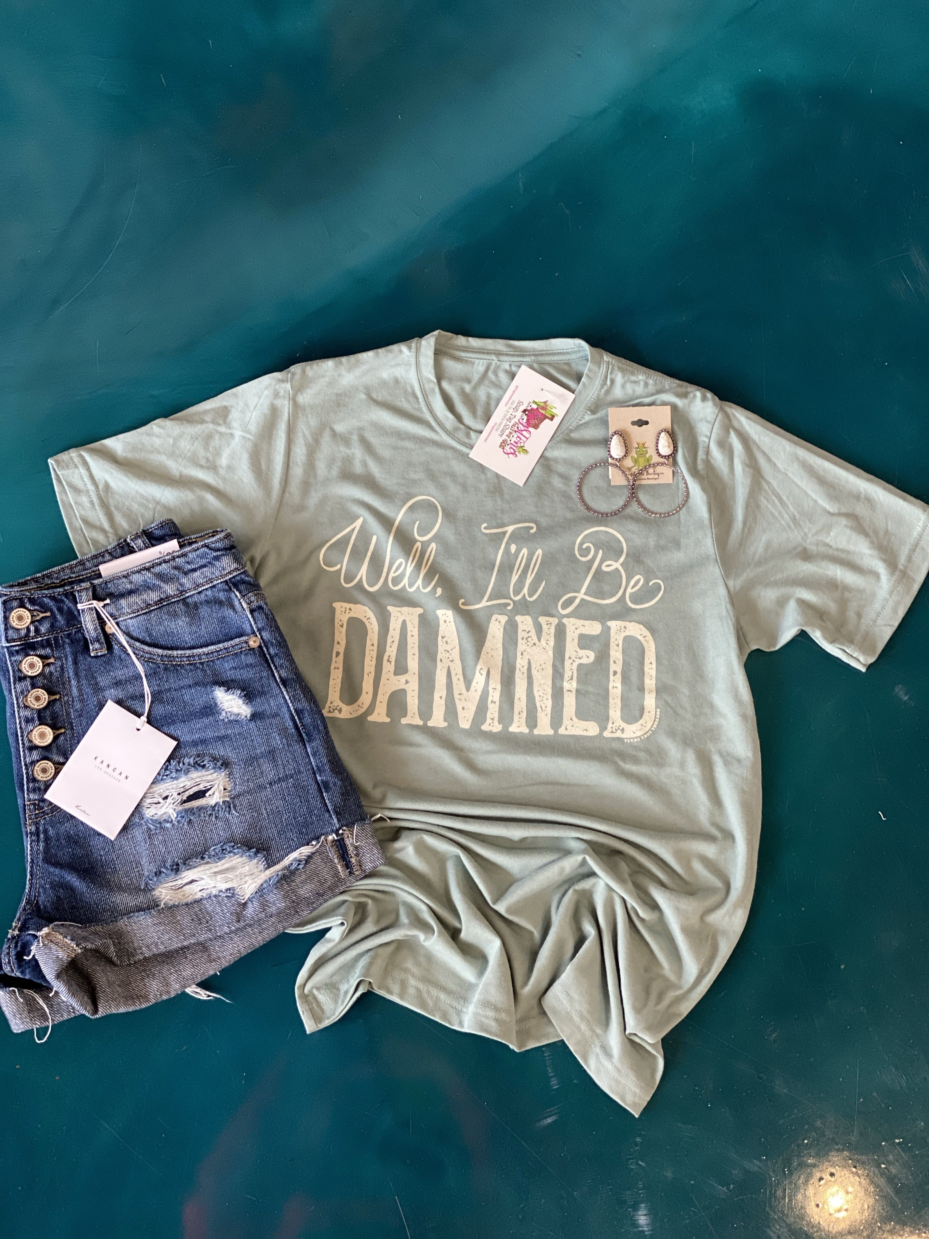 Image of Well I'll be damned tee