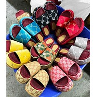 GG Women's classic Slippers GG sandals Strawberry platform shoes Multi-color optional
