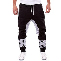 Jogger Pants Outdoors Joggers Men 2017 Three Colors Male Star Print Harem Pants Sweat Pant Men Trousers Wear Mens Jogger 2XL JC