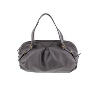Gucci Womens Leather Pleated Dome Handbag