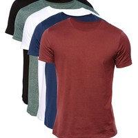 ASOS Slim Fit T-Shirt With Crew Neck 5 Pack SAVE 20%