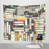 VHS Wall Tapestry by HOLLIS BROWN THORNTON