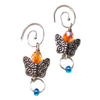Butterfly Charm Earrings - Guatemala