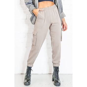 Magic In The Air Taupe Cargo Joggers