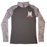 Grey Maryland Womens Quarter zip – MOYER Sports