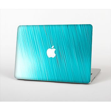 """The Light Blue Slanted Streaks Skin Set for the Apple MacBook Pro 13"""" with Retina Display"""