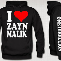 I Love Zayn Malik Hoodie i love zayn malik hooded sweatshirt one direction tee
