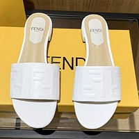 Fendi womens double F letter slippers shoes 1-3