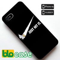 Just Hit It Nike Parody Iphone 4s Rubber Case