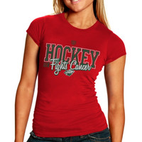 Minnesota Wild Old Time Hockey Womens Hockey Fights Cancer T-Shirt - Red