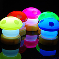New LED Mushroom Press Down Touch Lamp Night Light Gift 5 Color To You Pick