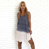 Tie Dye Wave Cover Up Dress