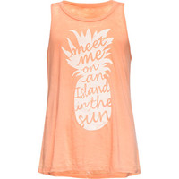 O'neill Pineapple Girls Tank Coral  In Sizes