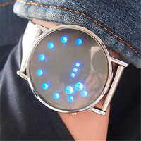 Stylish LED Men Electronic Watch Stainless Steel Digital Watch(With Thanksgiving&Christmas Gift Box) [6542555395]