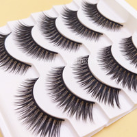 2016 New 3D Thick False Eyelashes 3D Cross False Eyelashes Naturally Slim High Quality Makeup Tool False Eyelashes