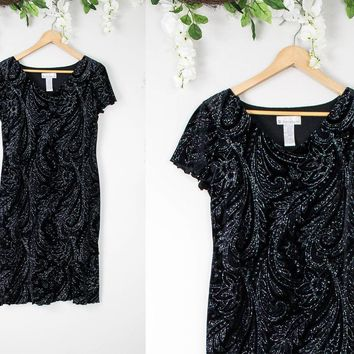 Vintage Velvet Sparkly Shift Dress