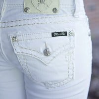 Summer White Bootcut Jeans by Miss Me