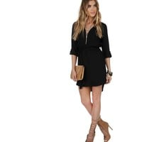 Black Zip Up The Tunic
