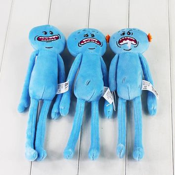 Great 3style Rick and Morty Happy & Sad Mr. Meeseeks stuffed plush toy free shipping