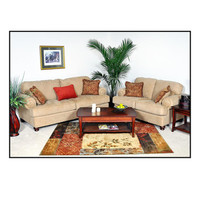 Chelsea Home Palm 2 Piece Living Room Set in Christo Tan
