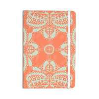 "Nandita Singh ""Motifs in Peach"" Orange Floral Everything Notebook"