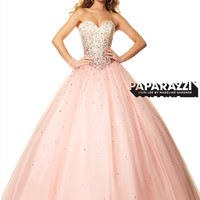 Sweetheart Beaded Tulle Ball Gown Paparazzi Prom Dress By Mori Lee 97051