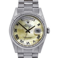 Rolex Day-Date 118239 18k White Gold MOP Dial Watch