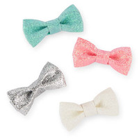 4-Pack Sparkle Bow Baby Hair Clips