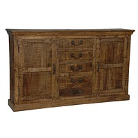 Bengal Manor Mango Wood 5 Drawer 2 Door Sideboard By Crestview Collection Cvfnr306