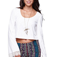 LA Hearts Lace Bell Sleeve Top at PacSun.com