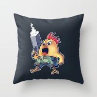 """""""SAY HELLO TO MY LITTLE FRIEND""""  Throw Pillow by DROIDMONKEY"""
