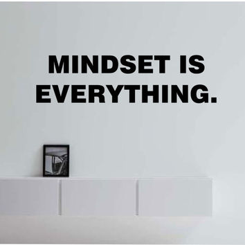 MINDSET Is EVERYTHING QUOTE motivation educationVinyl Wall Decal Sticker Art Decor Bedroom Design Mural interior design motivation education