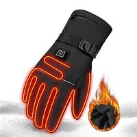 Waterproof Heated Motorcycle Touch Screen Battery Powered Gloves