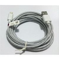 10 Feet Cable USB Charger Sync Cord for iPhone 5 (10 Ft White)