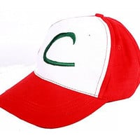 Pokemon Ash Ketchum Cosplay Costume Hat Cap Coslive