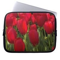 Red Tulips Floral Laptop Sleeve