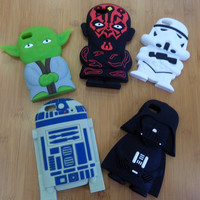 "For iPhone 6 Case 3D Silicon Star Wars Master Yoda Darth Vader R2D2 Stormtrooper Design Soft Rubber Cover for iPhone 6 4.7""/CGXC"