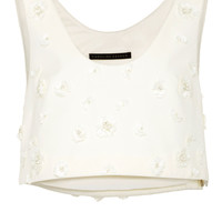 Cotton Velvet Vest with Applique | Moda Operandi