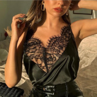 Spring and summer fashion sling short jacket lace decoration women's sexy halter shirt loose versatile shirt